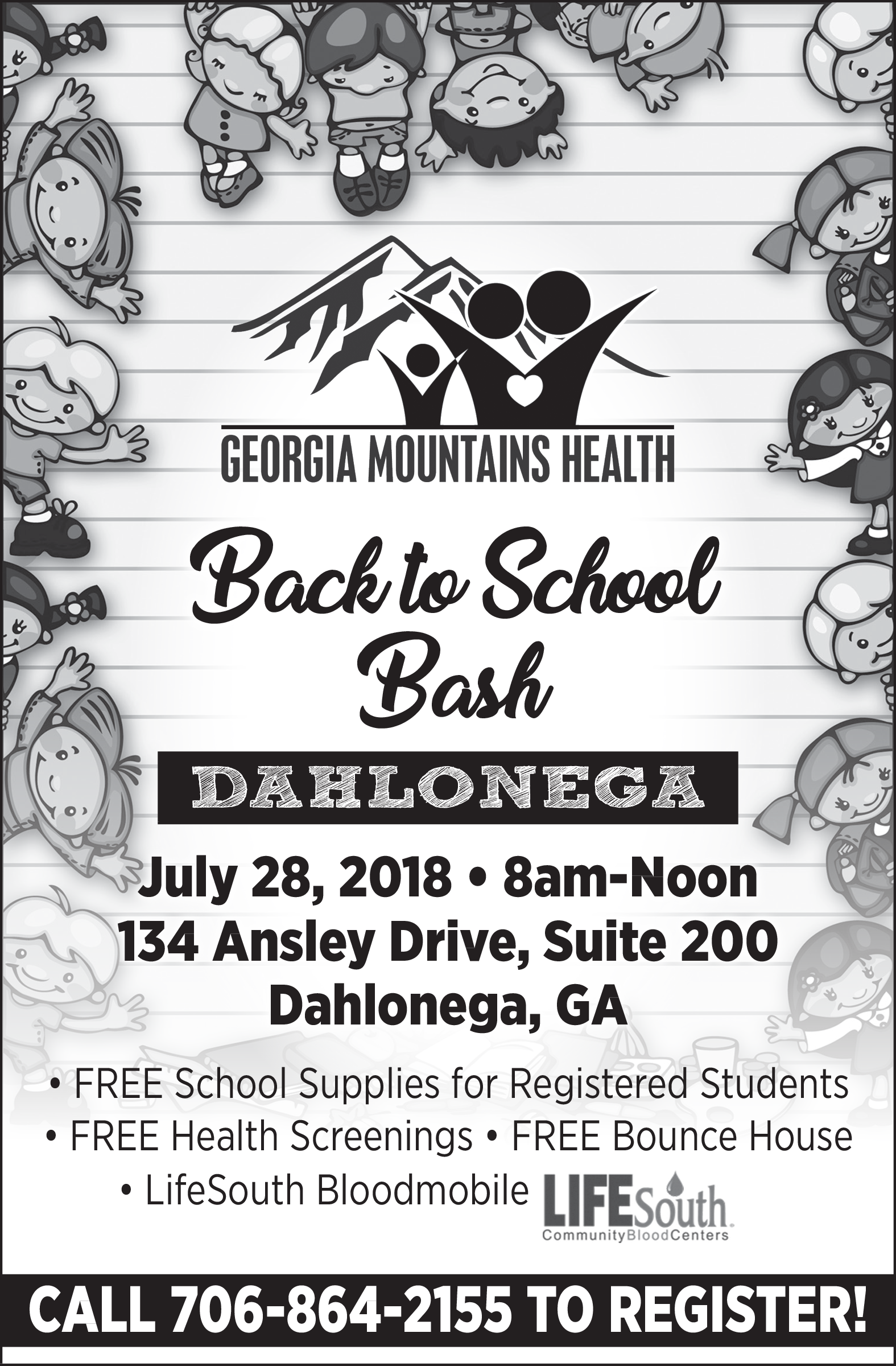 FREE School Supplies for Registered Students in Dahlonega