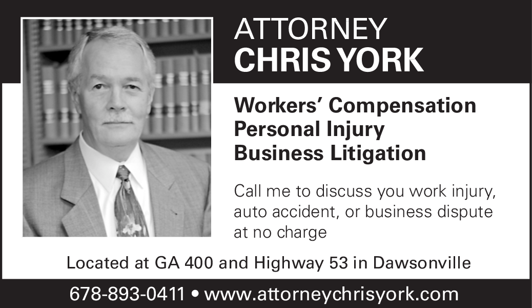 Call me to discuss your work injury by Attorney Chris York